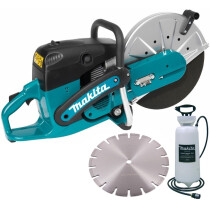 Makita EK6100 + Water Bottle + Blade Petrol Disc Cutter 110mm Cut with Water Bottle and Blade (Replaces DPC6430)