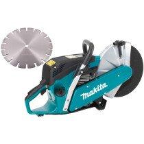 Makita EK6100 Petrol Disc Cutter 110mm Cut Easy Start +  Diamond Blade (Replaces DPC6430)