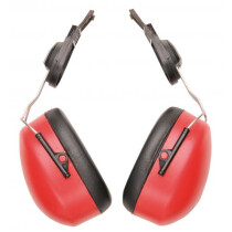 Portwest PW-PW47 Endurance Clip-On Ear Protector PW47 - Red/Black