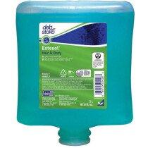 Deb HAB2LT Estesol® Universal Hair and Body Shower Gel Refill Cartridge Carton of 4 x 2L