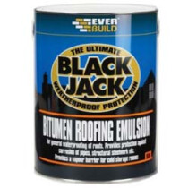 Everbuild 90605 Blackjack Bitumen Roofing Emulsion Paint 5 Litre