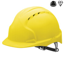JSP AJF160-000 Green JSP EVO3 AFJ160 Comfort Plus One Touch Vented Safety Helmet