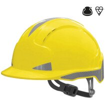 JSP EVOLite CR2 (Hi-Vis) Slip-Ratchet Yellow Safety Helmet
