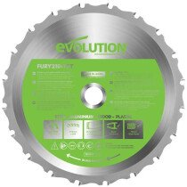 Evolution HTCF210MULTI FURY® Multi-Purpose TCT Circular Saw Blade 210 x 25.4mm x 20T