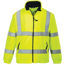 Portwest F300 Hi-Vis Mesh Lined Fleece - Available in Yellow or Orange