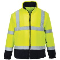 Portwest F301 Hi-Vis Two Tone Fleece - Available in Yellow or Orange