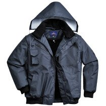 Portwest F465 3-in-1 Bomber Jacket - Black or Navy Blue Available