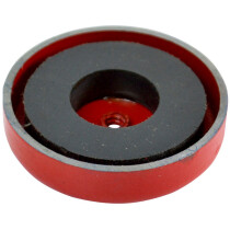 Faithfull AMP-0656 Shallow Pot Magnet 44.5 x 6.35mm Power 9.0kg FAIMAGSM445