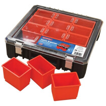 Faithfull XMS17ORGANIS 12 Compartment Plastic Organiser 15in