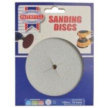 Faithfull FAIAD125A Paper Sanding Disc 125mm Assorted (Pack of 10)