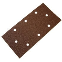 Faithfull FAIAOTSBD 1/3 Sanding Sheet Red B/D Perforated 93 x 230mm Assorted (Pack of 5)