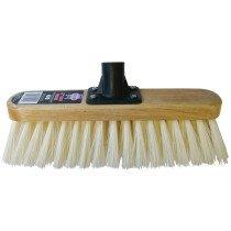 "Faithful FAIBRSOFT12R 12"" Soft Cream PVC Broom - Varnished"