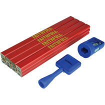 Faithfull FAICPRKIT Carpenter's Pencil Kit Red / Medium (Pack 12)