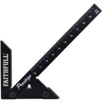 Faithfull 75R100 Prestige Centre Finder Gauge Black Aluminium 100mm FAICSQ10CNC