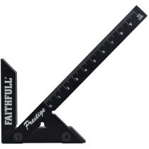 Faithfull 75R100 Prestige Centre Finder Gauge Black Aluminium 100mm FAICSQ10CNC