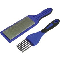 Faithfull FAIFCBKIT 2 Piece File Card Brush Kit