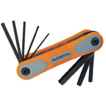 Faithfull FAIHKSF8M Folding Hex Key Set 8 Metric (1.5-8mm)