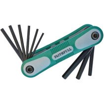 Faithfull FAIHKSF9AF Folding Hex Key Set 9 Imperial (1/64 - 1/4in)