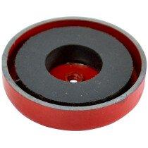 Faithfull AMP-0656 Shallow Pot Magnet 44.5 x 6.35mm Power 9.0kg FAIMAGSM445