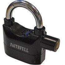 Faithfull FAIPLALARM Padlock 70mm with Security Alarm