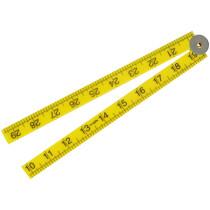 """Faithfull FAIRULEFOLD Folding Rule Yellow ABS Plastic 1m (39"""")"""