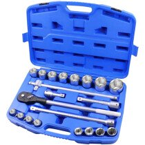 Faithfull 341021 Socket Set 21 Piece Metric 3/4in Drive FAISOC3421M