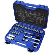 Faithfull 381026N1 Socket Set 26 Piece Metric 3/8in Drive FAISOC3826MN