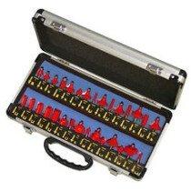 Faithfull FAIRBS30 Router Bit Set of 30 TCT Pieces 1/4in Shank