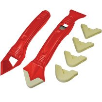 Faithfull FAITLSILKIT Slicone Scraper Kit Two Piece