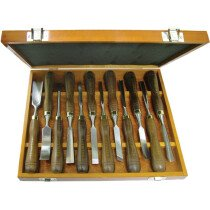Faithfull FAIWCSET12 Woodcarving Set of 12 Chisels in Case