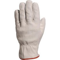 Lawson-HIS GLL52 Unlined Driver Style Grey Cowhide Grain Leather Glove
