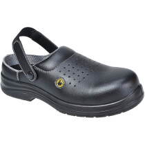 Portwest FC03 Compositelite ESD Perforated Safety Clog SB AE - Available in Black or White