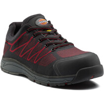 Dickies FC9531 (UK9) Liberty Safety Trainer - Black/Red - UK Size 9 - Clearance Size
