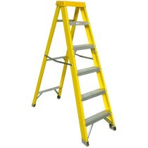 Zarges 300514 Fibreglass Swingback Stepladder with 4 Treads EN131