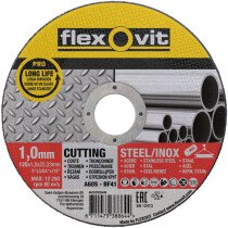 Flexovit 66252920409 A 60 S-BF41 Pro Inox Flat Metal Cutting Disc 125 x 1.0 x 22.2mm Each