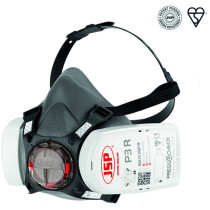 JSP BHT0A3-0L5-N00 Force 8 Half-Mask with P3 PressToCheck Filters (Medium Fit)