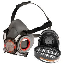 JSP BHT553-0L5-800 Force 8 Half-Mask with A1P2 Classic Filters (Medium Fit)