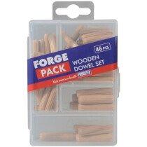 Forgefix FPDOWSET Wooden Dowel Kit (Pack of 46 Dowels) FORFPDOWSET