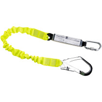 Portwest FP53 Single Elasticated Lanyard With Shock Absorber - Hi-Vis Yellow