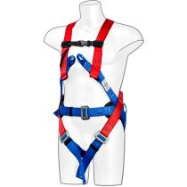 Portwest FP17 3 Point Comfort Harness - Red/Blue - One Size