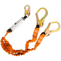Portwest FP75 Double 140kg Lanyard with Shock Absorber