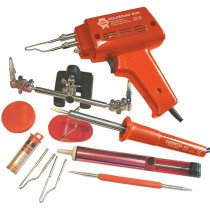 Faithfull FPPSGKP SGK Solder Gun and Iron Kit 100w & 30w 240v