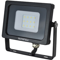 Faithfull FPPSLWM10 SMD LED Wall Mounted Floodlight 10W 800 Lumen 240V