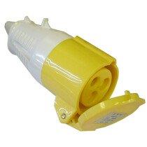 Faithfull FPPSOC32AMP Covered Yellow Female Socket 110 Volt 32amp