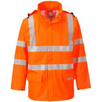 Portwest FR41 High Visibility Sealtex Flame Hi-Vis Jacket - Available in Orange or Yellow