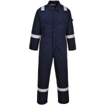 Portwest FR52 FR Bizflame Padded Anti-Static Coverall Flame Resistant  - Available in Navy Blue or Orange