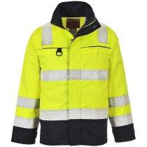 Portwest FR61 Hi-Vis Multi-Norm Jacket - Yellow/Navy