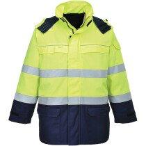 Portwest FR79 High Visibility Bizflame Multi Arc Hi-Vis Jacket - Yellow/Navy