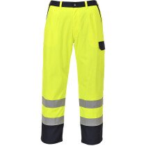 Portwest FR92 Hi-Vis Bizflame Flame Resistant Pro Trousers - Hi-Vis Yellow - Regular Leg Length