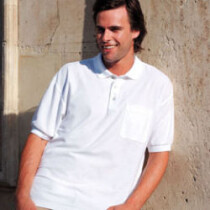 Fruit Of The Loom 63308 Polo Shirt with Pocket 65/35 White 63308